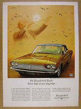 1966 Ford Thunderbird T-Bird Town Landau gold car photo vintage print Ad