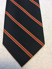 Vintage Prince Consort Golden Clasp Mens Tie 3.75 X 55 Black With Red And Yellow
