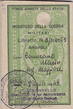 LIBRETTO FERROVIE TRENO MINISTERO DELLA GUERRA 1949 TRASPORTI MILITARI 8-160