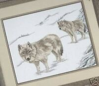 Great White Wolves Counted Cross Stitch Chart