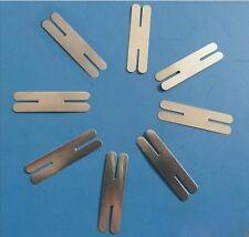 1000pcs H-type Nickel Plated Steel Strap Strip Sheets for battery spot welder