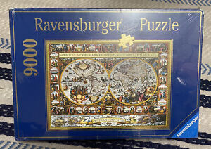 Ravensburger 9000 pc Puzzle World Map of 1611 Pieter Van Den Keere New In Box