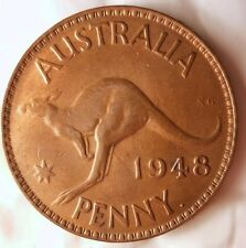 1948 (P) AUSTRALIA PENNY - KEY DATE HIGH GRADE RED - FREE SHIP - Australia Bin A