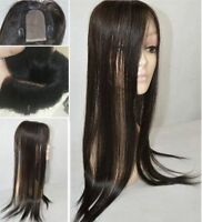 "3.5""X4"" single layer mono base 100% virgin hair thin light topper piece wiglet"