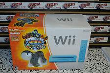 Nintendo Wii Skylanders Giants Bundle Limited Edition Blue Wii Console -  VGC