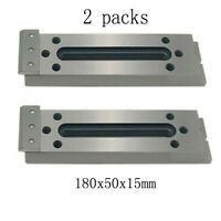 2x Wire EDM Fixture Board Stainless Jig Tool For Clamping And Leveling 180x50x15