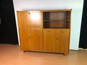 OB21-0001a Highboard Barschrank Sekretär Tepe-Möbel Nussbaum hell furniert 1958