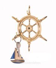 Cuelga llaves náutico de rueda de timón