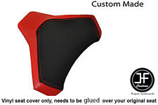 BLACK & RED VINYL CUSTOM FITS DUCATI 848 1098 1198 SEAT COWL PAD COVER ONLY