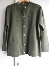 Ladies Olive Green Cardigan Size M 12/14
