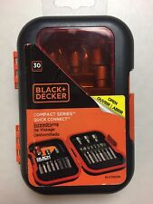 Black+Decker Compact Series Quick Connect 30-Piece Screwdriving Bit Set