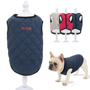 Cold Winter Dog Pet Coat Jacket Vest Puppy Warm Cotton French Bulldog Clothes