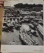 1954 Viet-Nam Sampans à Saigon