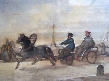 Charles-A. DOËRR Paris 1815-1894.St-Petersbourg.1881.Aquarelle.SBG.19x25.Cadre.