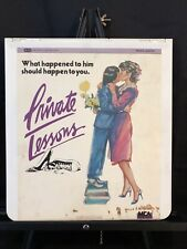 Private Lessons 1980 RCA CED SelectaVision VideoDisc Used Tested Works