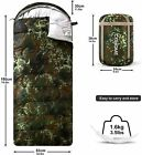 Camping Sleeping Bag Camouflage Warm Hiking Cohome Cotton