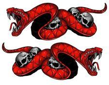 "Triumph TT600 Daytona 675R Speed Triple Red Snake Motorcycle Stickers 5"" Decals"