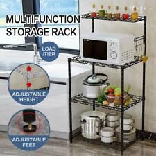 Microwave Oven Kitchen Storage Cupboard Shelf Holder Rack Bathroom Organizer USA