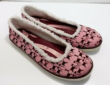 Pink and burgundy Keds ballet flats, Eleanor US women's 8