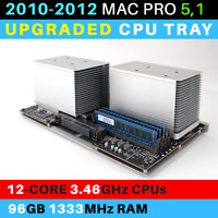 2010-2012  Mac Pro 5,1 CPU Tray with 12-Core 3.46GHz Xeon and 96GB RAM
