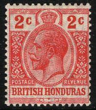 SG 112 BRITISH HONDURAS 1915 - 2c SCARLET - MOUNTED MINT