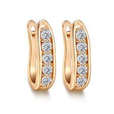 Fashion  gold filled Rhinestone womens hoop earrings statement jewelry lot