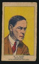 1920's W-Uncataloged Actor Strip Cards (3 lines text) -WILLIAM S. HART (Cowboy)