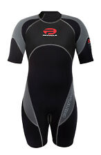 Pinnacle Spirit 3mm Shorty Scuba Diving Wetsuit Men's Black WS11MBG