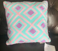 Pottery Barn Kids Harper Diamond Geo Decorative Pillow Sham ~ Aqua Pink Purple