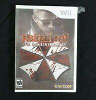 Resident Evil: The Umbrella Chronicles (Nintendo Wii, 2007) Sealed Torn plastic
