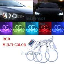 For 2008-2015 Mitsubishi Lancer Evo RGB LED SMD Angel Eyes Halo Ring Headlight