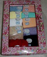 NWT Plus Size 15 or 8x Women's Lot 12 Pair Cotton Pretty Colors Briefs Underwear