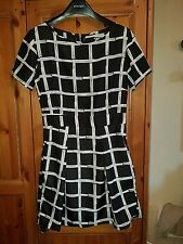 Unbranded Ladies Black & White Dress Size 8/10