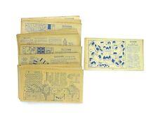 NABISCO TOYTOWN SET ! ! ! ! 33 OF ORIG. 36 CARDS ... EXCELLENT