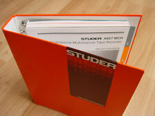 Studer ReVox  A827 Service Manual  Part 1  new
