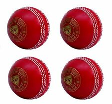 4X CW INCREDIBLE /PVC /POLYSOFT /SPIN /PRACTICE CRICKET BALL ALL RED