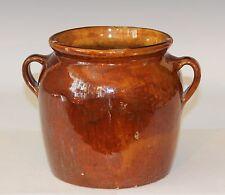 Antique Vintage RedWare Country Confit Pot Jar Southern French Vase Provence