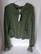 Womens NTW Cardigan Sweater with Hood - Size: Medium