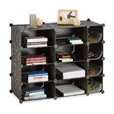 Relaxdays Étagère Cubes Rangement 12 compartiments Plastique Bibliothèque Mod...