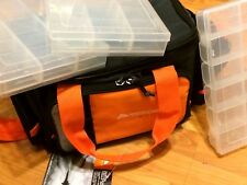 NEW Ozark Trail Bag For Fishing Tackle box With 3 Boxes Shoulder Pack Series MED