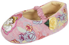 Disney Princess Slippers Belle Character BOOTIES Beauty and The Beast Shoes Size Belle - Pink UK 11 Kids