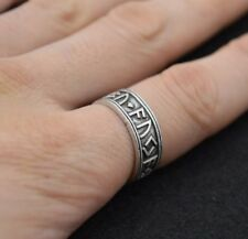 New Solid Adjustable Viking Rune Ring - Reenactment - Nordic - Runeband Ring