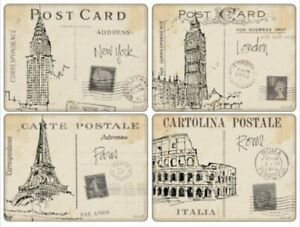Pimpernel Placemats, Postcard Sketches, Set of 4 (2010648862)