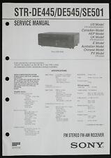 SONY STR-DE445/DE545/SE501 Original Service-Manual/Diagram/Parts List o228