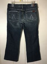 SEVEN 7 FOR ALL MANKIND CROP A POCKET Women's Crop Jeans Size 28
