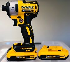 """DEWALT DCF887B 20V 20 Volt 1/4"""" 3 Speed Impact Driver Tool + (2) 2.0AH Batteries"""