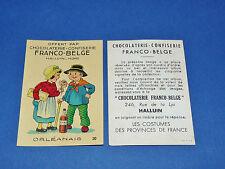 CHROMO CHOCOLATERIE FRANCO-BELGE HALLUIN NORD COSTUMES FRANCE ORLEANAIS