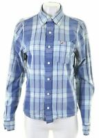 HOLLISTER Womens Shirt Size 14 Medium Blue Check Cotton  HF09