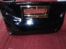 Michael Kors Black and Gold Patent Leather Clutch. Authentic