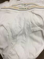 Men's Stafford Classic Fit Size 30 White Brief Underwear Lot Of 6 New